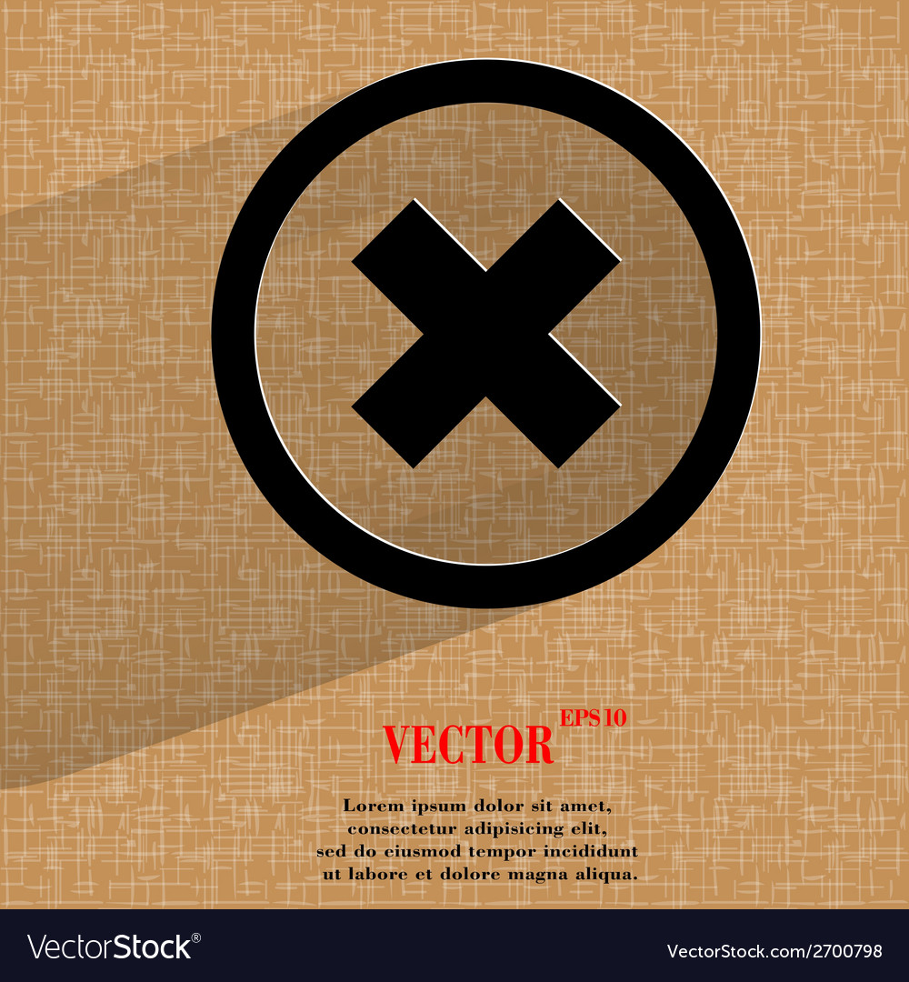Cancel flat modern web design on a flat geometric vector | Price: 1 Credit (USD $1)