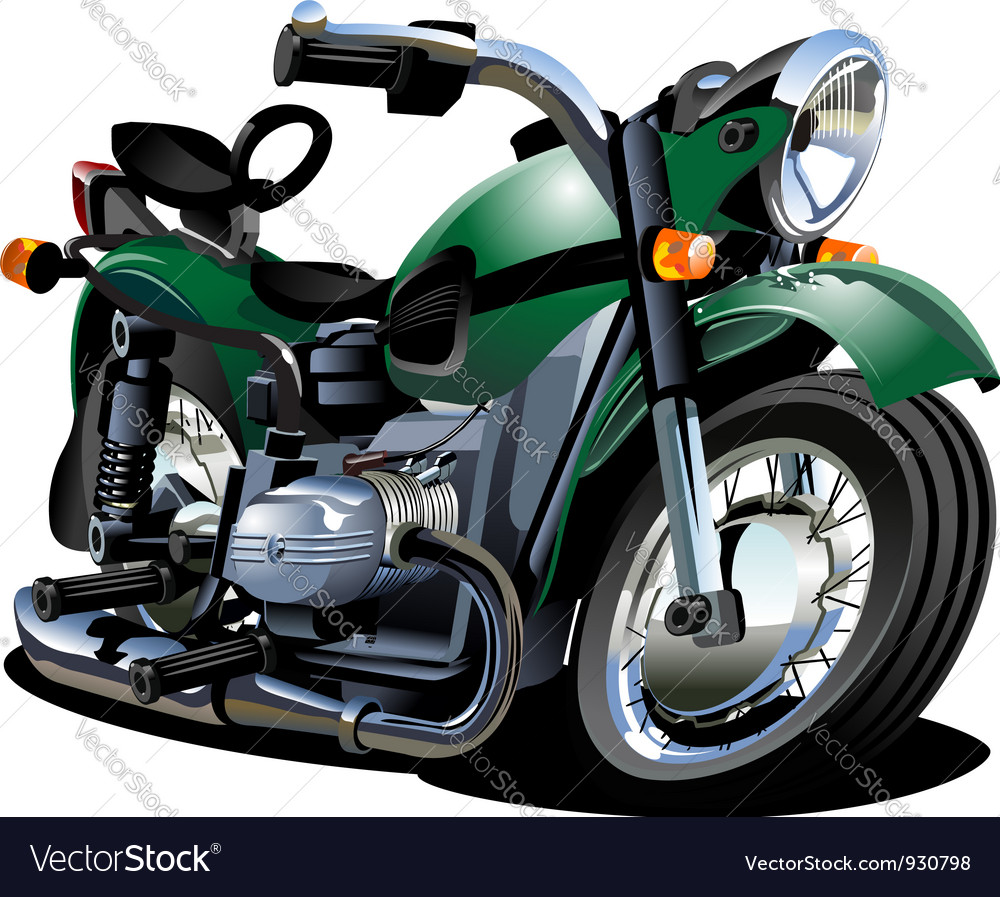 Cartoon motorcycle vector | Price: 3 Credit (USD $3)