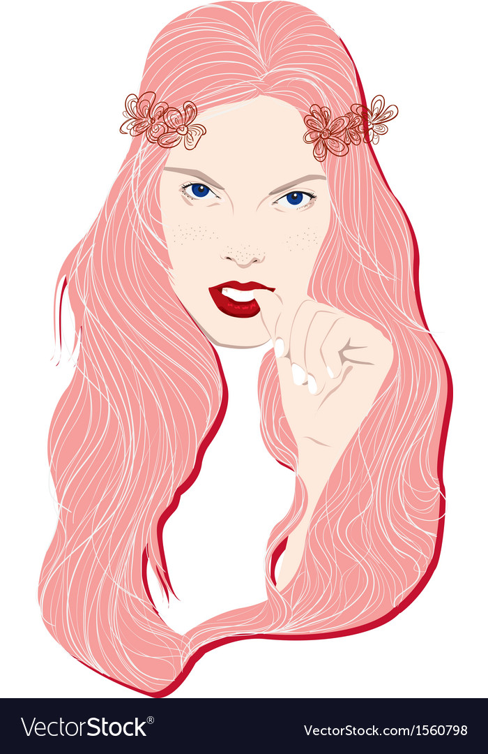 Face woman fashion vector