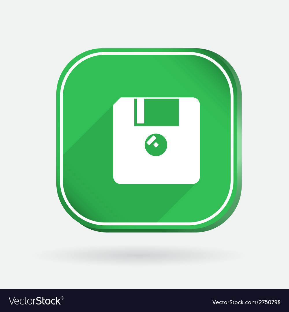 Floppy diskette color square icon vector | Price: 1 Credit (USD $1)