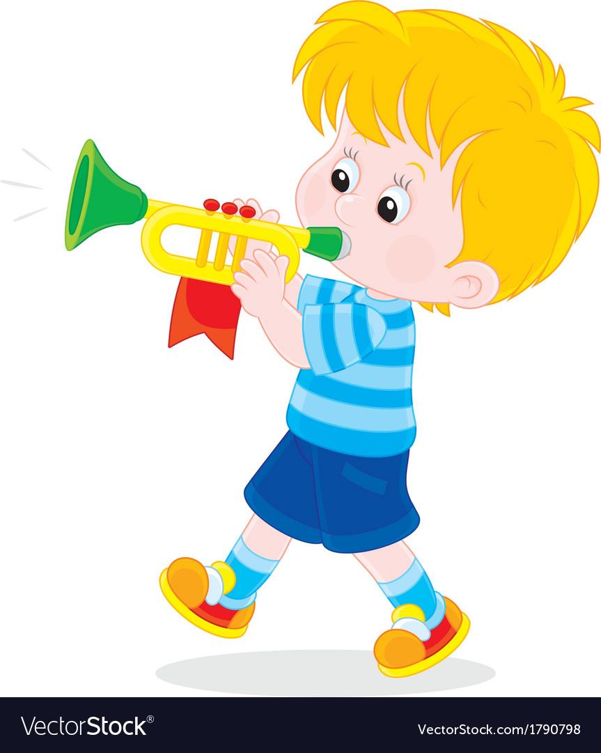 Little trumpeter vector | Price: 1 Credit (USD $1)