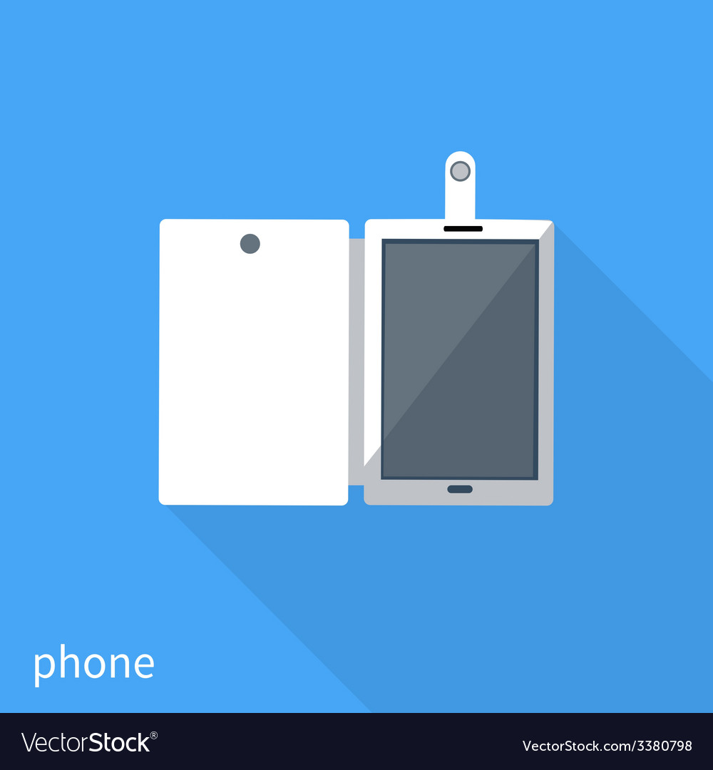 Smartphone business concept of flat design vector | Price: 1 Credit (USD $1)