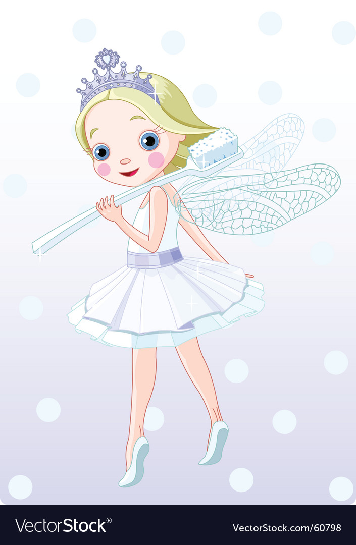 Tooth fairy with toothbrush vector | Price: 1 Credit (USD $1)