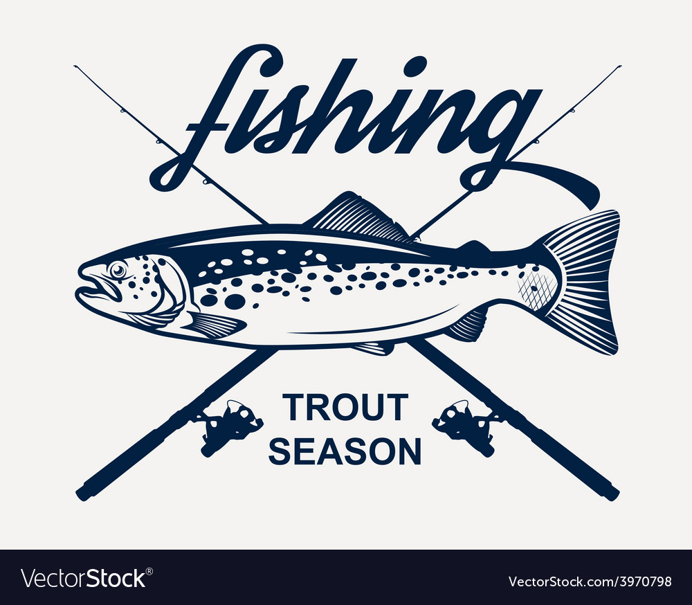 Trout fishing vector | Price: 1 Credit (USD $1)