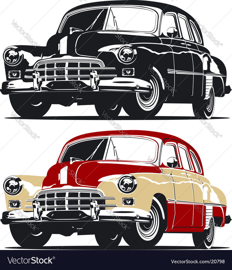 Vintage limousine vector | Price: 3 Credit (USD $3)