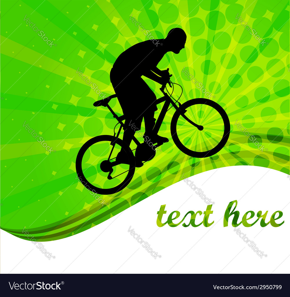 Bicyclist -abstract background vector | Price: 1 Credit (USD $1)