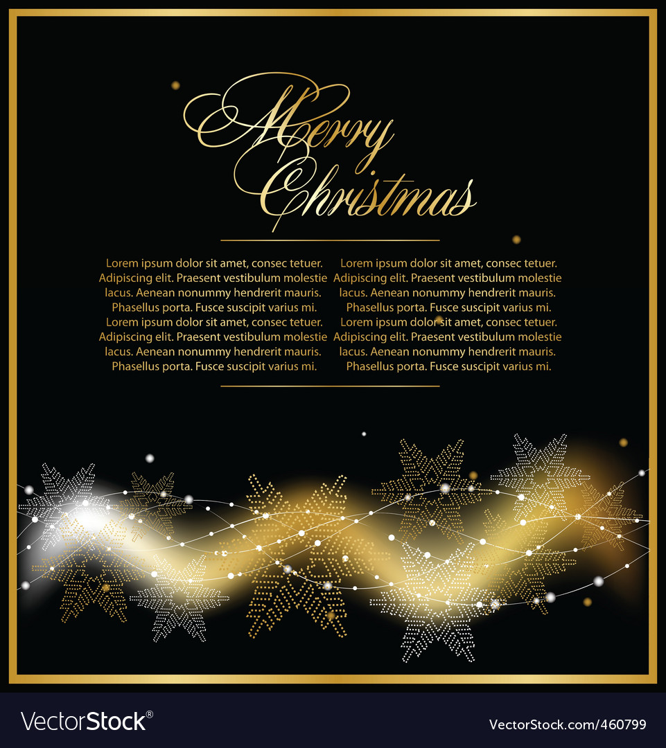 Christmas gold beautiful background vector | Price: 1 Credit (USD $1)