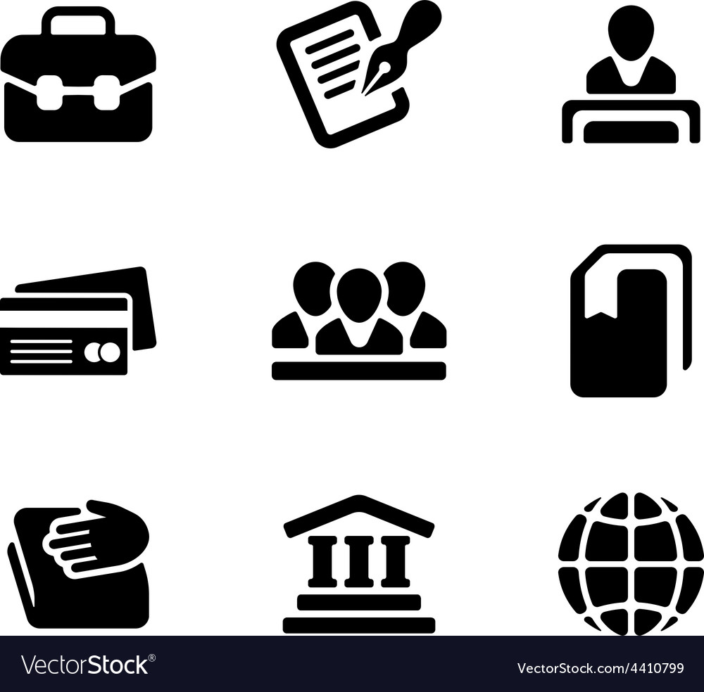 Financial activity and business staff flat icons vector | Price: 1 Credit (USD $1)