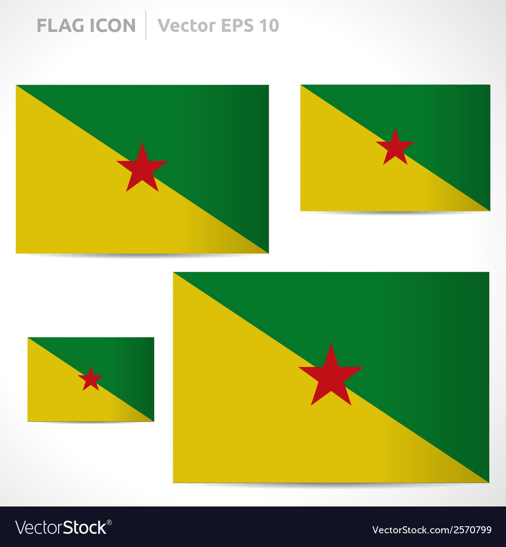 French guiana flag template vector | Price: 1 Credit (USD $1)