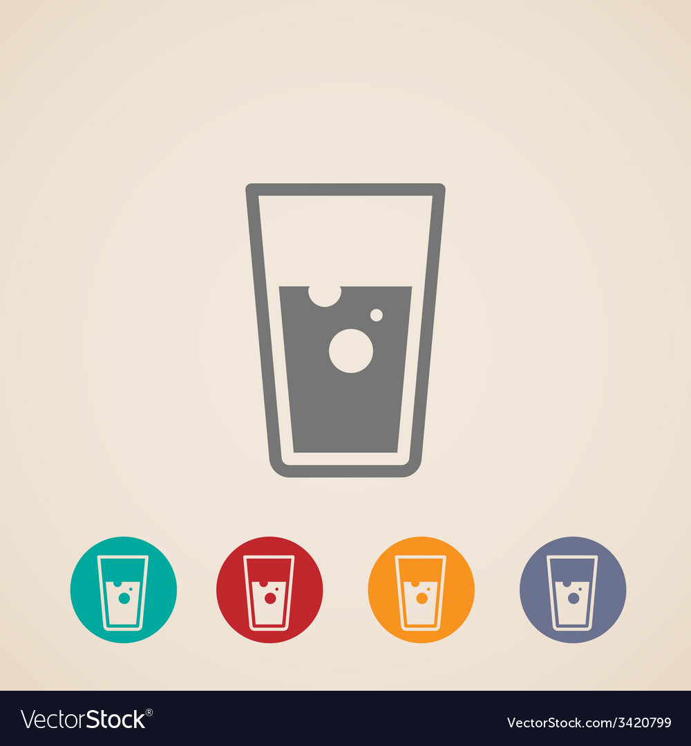 Glass of water icons vector | Price: 1 Credit (USD $1)