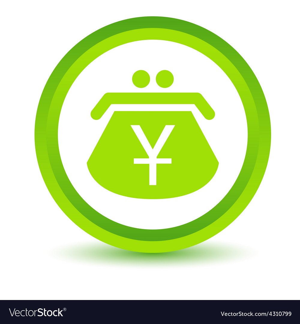 Green yen purse icon vector | Price: 1 Credit (USD $1)
