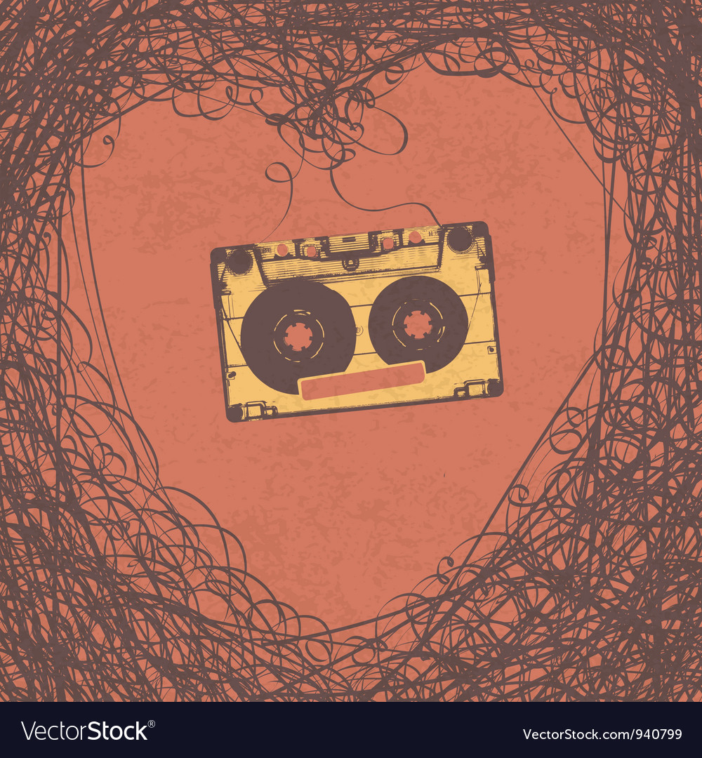Loving retro music poster design vector | Price: 1 Credit (USD $1)