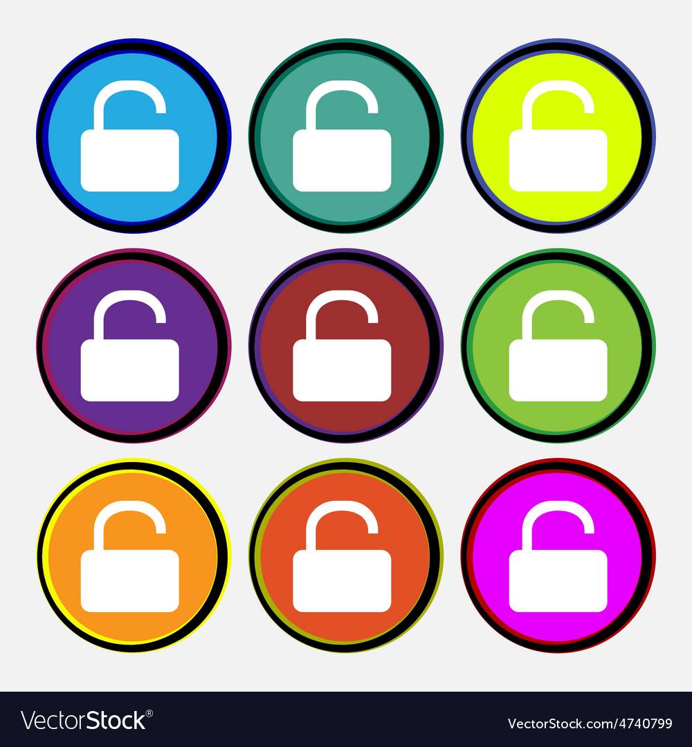 Open padlock vector | Price: 1 Credit (USD $1)