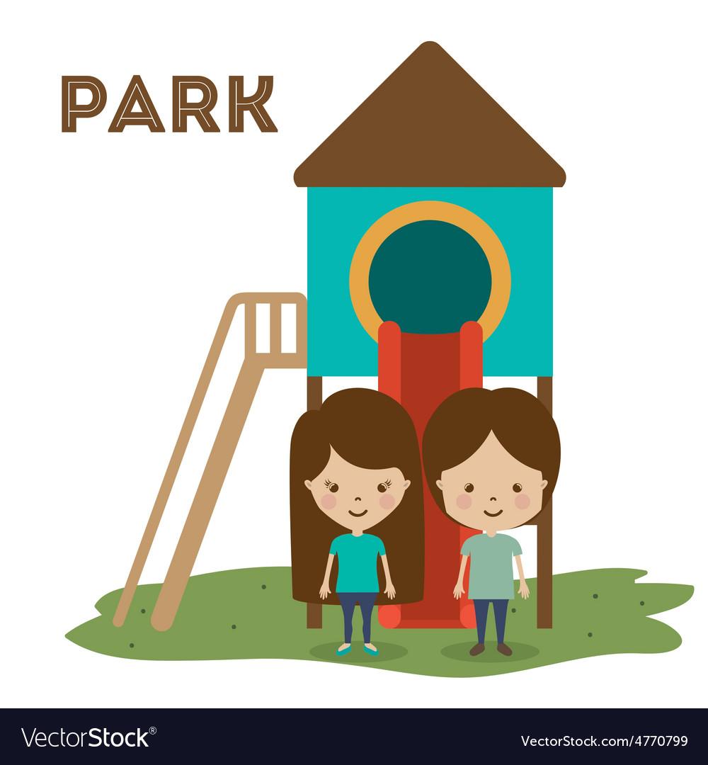 Park design vector | Price: 1 Credit (USD $1)