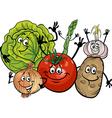 Vegetables group cartoon vector