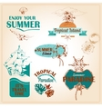 Summer vacation marine sea emblems set vector