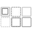 Set of square frames for valentine day vector