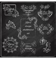 Retro design chalkboard vector