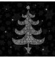Christmas tree silhouette vector