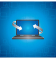 Arrows covers a laptop - vector