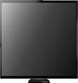 Tv screen vector