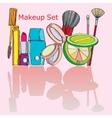 Multicolored cosmetics vector