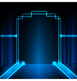 Neon stage background vector