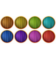 Wooden buttons vector