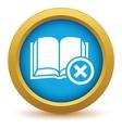 Remove book icon vector