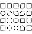 Set of black and white templates for icon frame vector