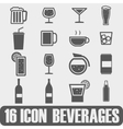 Icon beverages on white background vector