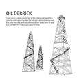 Oil rig backdrop vector