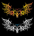 Image of skull tribal vector