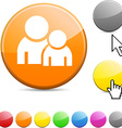Forum glossy button vector