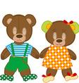 Cute teddy bears vector