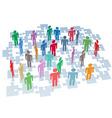 Human resources group connection puzzle pieces net vector