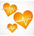 Heart and heartbeat symbols vector
