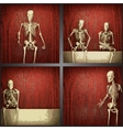 Skeleton on the wall collection vector