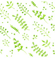 Seamless watercolor nature pattern vector