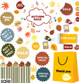 Autumn sale - set of stickers and labels vector