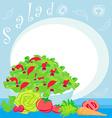 Bowl full of fresh vegetable salad vector