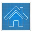 Blueprint house icon vector