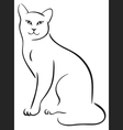Outline cat vector