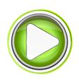 Play button app icon vector