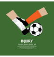 Football player make injury to an opponent vector
