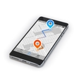 Smartphone mobile navigation vector