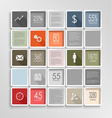 Modern squares colorful info graphic template vector