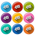 Stamp buttons vector