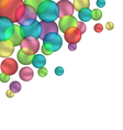 Bubbles isolated on white vector
