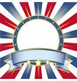 New frame usa colors ring vector